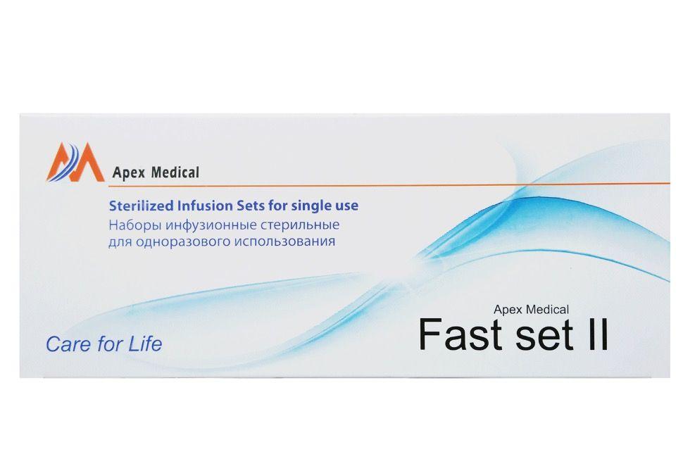 Устройство для инфузии Apex типа Fast Set-II Sterilized Infusion Sets (9мм x 50см)