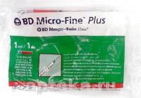 Шприц инсулиновый 1 мл BD Micro Fine Plus U40 12,7 мм (пакет по 10 шт)
