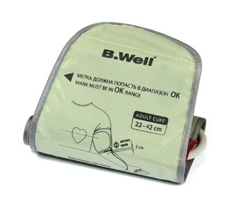 Манжета B.WELL для автоматических и полуавтоматических тонометров M- L 22-42 см