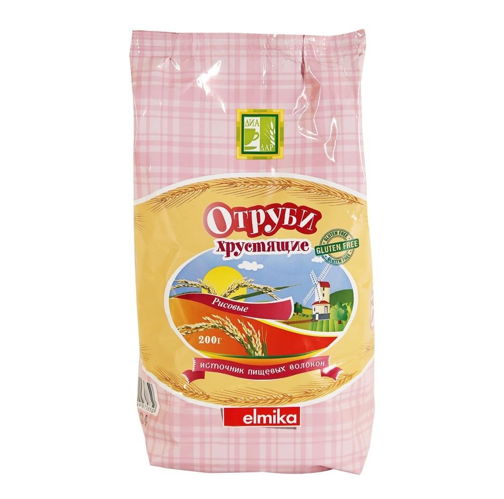 Отруби рисовые хрустящие ДиаДар 200 г
