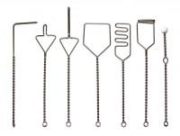 Набор зондов логопедических (7 зондов из металла c пластиковым шариком)