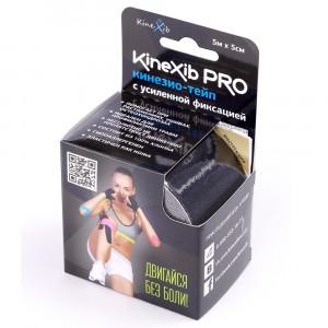 Кинезио-тейп Kinexib PRO (бинт Кинексиб Про) черный адгезивный восстанавливающий (рулон 5м х 5см)