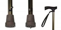 Трость телескопическая противогололёдная 10105\Т (c шипом)