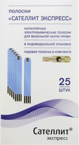 Тест-полоски Сателлит Экспресс ПГКЭ-03, 25 шт.