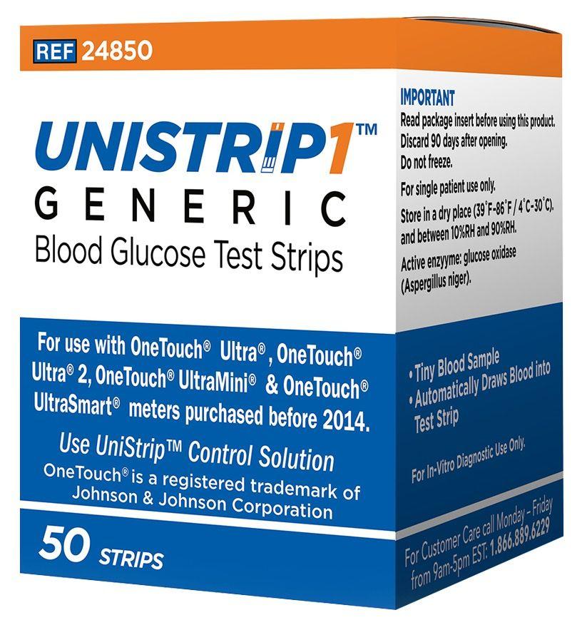 Юнистрип Дженерик (Unistrip Generic) тест-полоски для OneTouch Ultra 50 шт