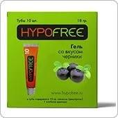 HypoFree (Гипофри) гель в тюбике 1 ХЕ вкус черники (коробка из 10 тюбиков)
