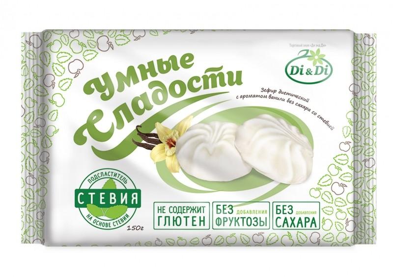 Зефир Di&Di «Умные сладости» на основе стевии со вкусом ванили 150 г