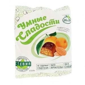 Конфеты Di&Di «Умные сладости» на стевии с курагой и миндалем 210 г