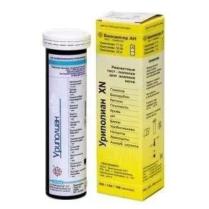 Тест-полоски Уриполиан - 1he Уригем 50шт (гемоглобин в моче)