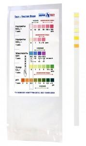Чистая вода тест-полоски на нитраты/нитриты/жёсткость/хлор/Ph в воде (1 шт)