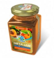 Джем Dieta-Jam (Биомилс) со вкусом абрикоса на стевии 230 г