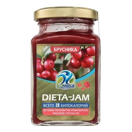 Джем Dieta-Jam (Биомилс) со вкусом брусники на стевии 230 г