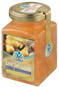Джем Dieta-Jam (Биомилс) со вкусом груши на стевии 230 г