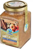 Джем Dieta-Jam (Биомилс) со вкусом яблока и корицы на стевии 230 г
