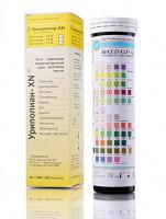 Уриполиан 10B тест-полоски на эритроциты/гемоглобин/кетоны/билирубин/белок/pH/уробилиноген/нитриты/лейкоциты в моче (100 шт)