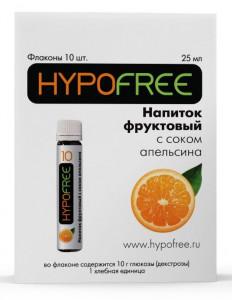 Напиток HypoFree (Гипофри) апельсин 1ХЕ - 10гр