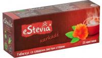 Чай eStevia каркаде с листом стевии (25 пак х 2 г)