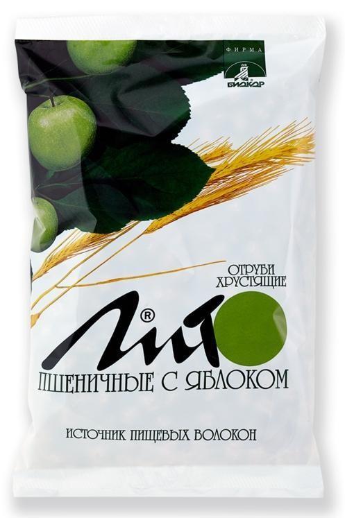 Отруби ЛИТО пшеничные с яблоком хруст. 200 г