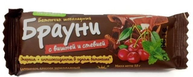Батончик «Петродиет» Брауни шоколадный с вишней на стевии 50 г