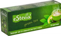 Чай eStevia зеленый с листом стевии (25 пак х 2 г)