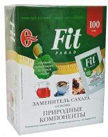 Фит Парад 10 (Fit Parad №10) Сахарозаменитель эритритол/сукралоза/стевиозид (100 пакетиков саше)