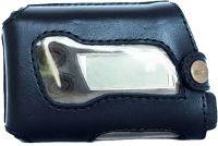 Кожаный чехол А2 для помпы Акку Чек Спирит (Комбо) темно-синий на ремень