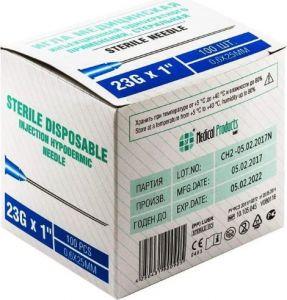 Игла инъекц. 0,6 х 25 (23G) SF Medical