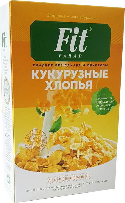 Хлопья Фит Парад кукурузные без сахара 200г