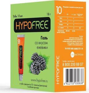 Гипофри гель (HypoFree) Ежевика (коробка 10 тюбиков по 1/2 ХЕ)
