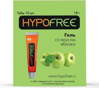 Гипофри гель (HypoFree) Яблоко (коробка 10 тюбиков по 1/2 ХЕ)