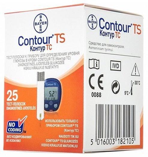 Контур ТС (Contour TS) тест-полоски 25 шт
