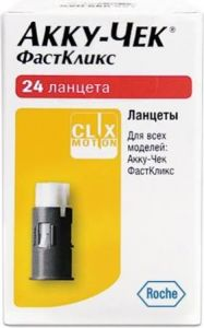 Ланцеты Акку Чек Фасткликс (Accu-Chek Fastclix) кассета 24 шт