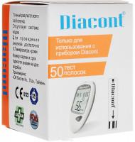 Диаконт (Diacont) тест-полоски 50 шт