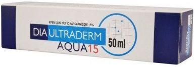 Крем для ног ДиаУльтраДерм Аква 15 с мочевиной (карбамидом) (DiaUltraDerm Aqua 15 Professional) 50мл