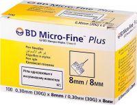 Игла Микро Файн Плюс к шприц-ручкам (BD Micro-Fine Plus 30G) 8мм