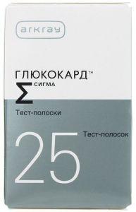 Глюкокард тест-полоски 25 шт
