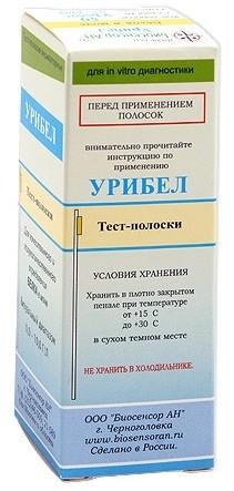 Урибел тест-полоски на белок в моче 50 шт