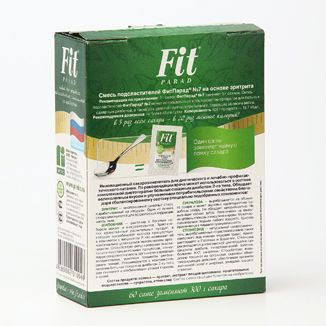 Фит Парад 7 (Fit Parad №7) Сахарозаменитель эритрит/сукралоза/стевиозид (60 пакетиков саше)