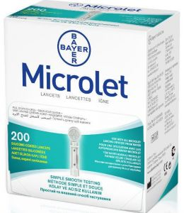 Ланцеты Микролет (Microlet) 200 шт