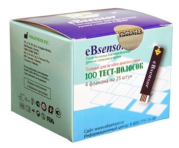 иБисенсор (eBsensor) тест-полоски 100 шт