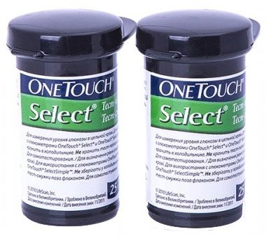 Ван Тач Селект (OneTouch Select) тест-полоски 50 шт