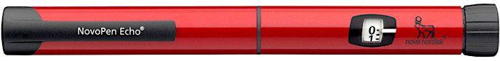 Шприц-ручка НовоПен ЭХО (NovoPen Echo) шаг 0,5 ед