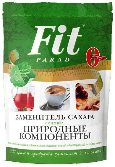 Фит Парад 7 (Fit Parad №7) Сахарозаменитель эритрит/сукралоза/стевиозид (дойпак 400гр)