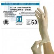Перчатки латексные смотровые хирургические, стерильные,опудренные неанатомические р-р 6, SFM