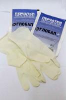Перчатки латексные хирургические, стерильные,опудренные, неанатомические р-р 7 Фарм-Глобал