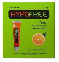 HypoFree (Гипофри) гель в тюбике 0,5ХЕ вкус апельсина (коробка из 10 тюбиков)