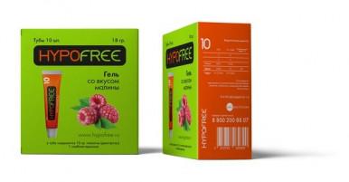 HypoFree (Гипофри) гель в тюбике 1 ХЕ вкус малины (коробка из 10 тюбиков)