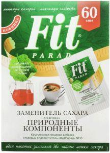 Фит Парад 10 (Fit Parad №10) Сахарозаменитель эритритол/сукралоза/стевиозид (60 пакетиков саше)